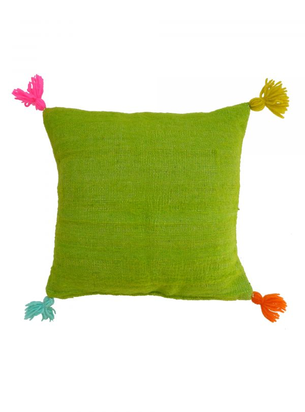 Grass green cushion cover 40x40 cm