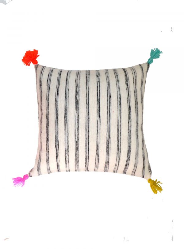 Striped cushion cover 40x40 cm