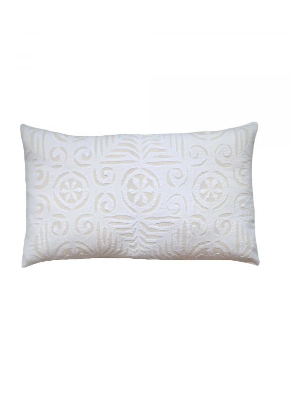 White and off white cushion cover