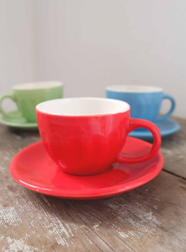 red espresso cup