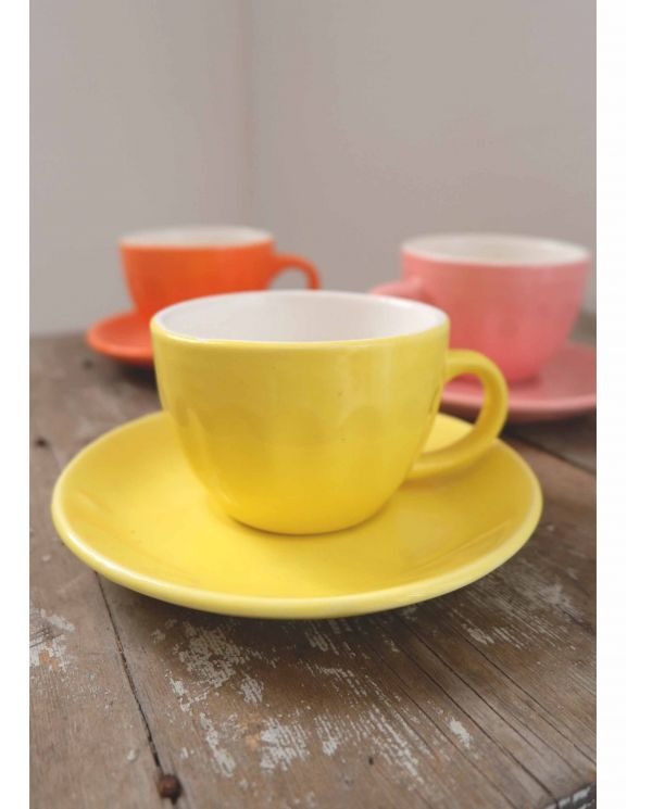 yellow espresso cup