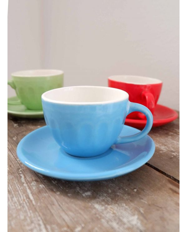 light blue espresso cup