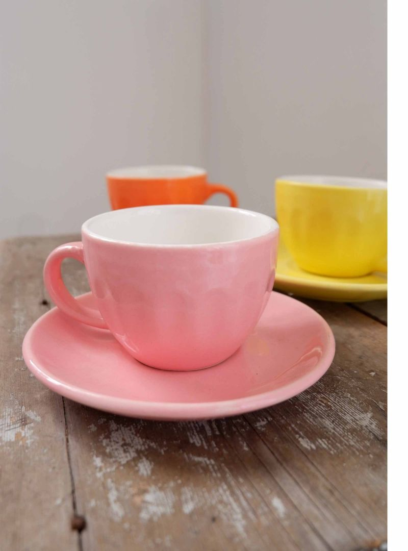 light pink espresso cup