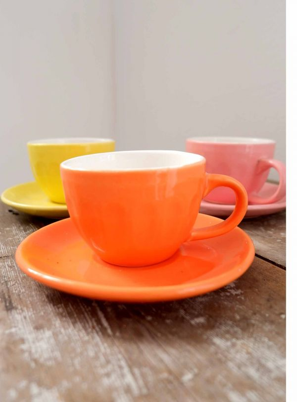 orange espresso cup