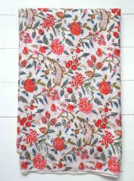 Pink fabric with indian pattern