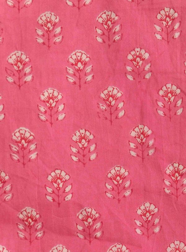 Floral pink and red fabric