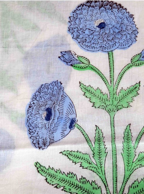 Floral fabric with large flowers