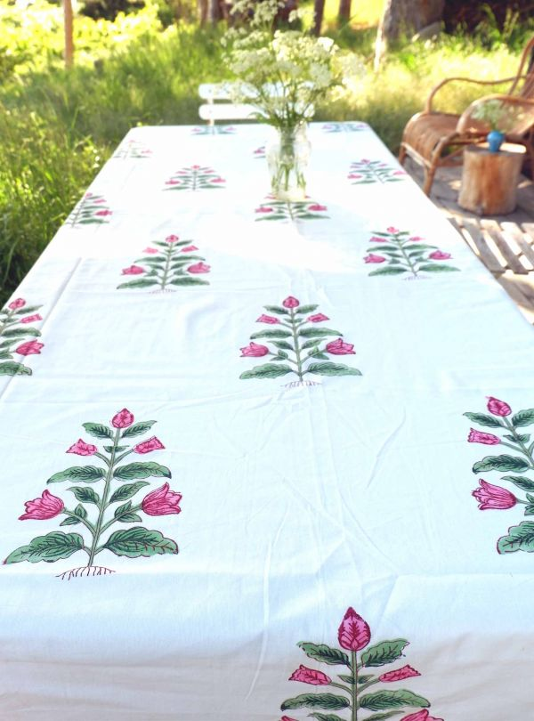 Floral tablecloth or bedspread no. 6