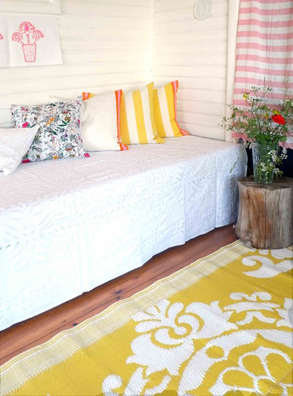 White cotton bedspread