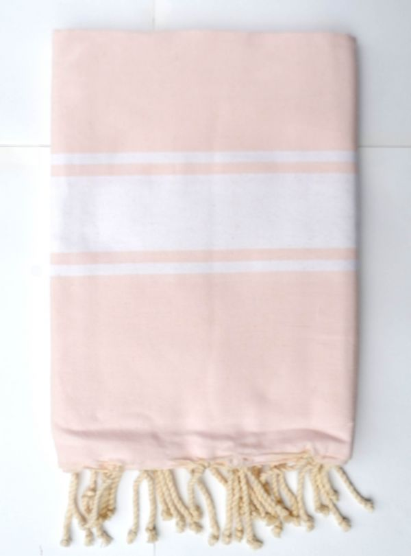 Soft pink hammam towel