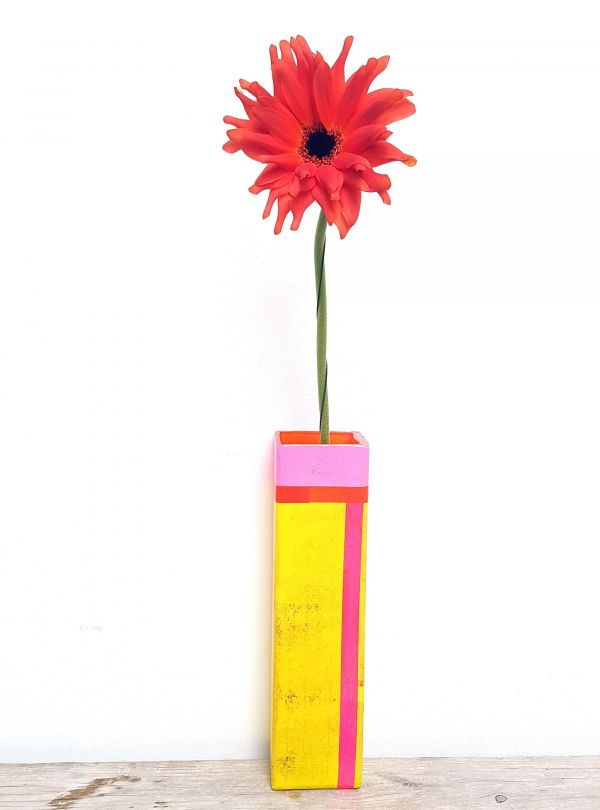 Colorful flower vase
