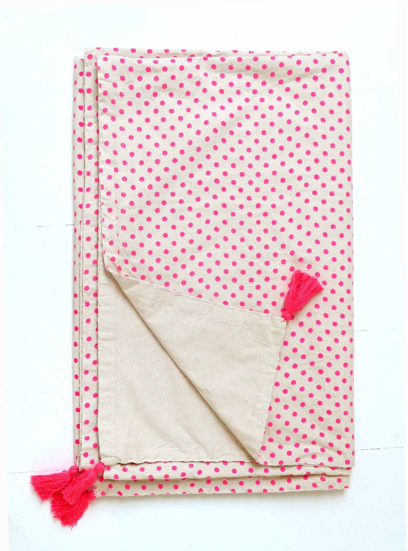 Large polka dot bespread & couch cover 240x250 cm