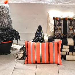 New arrival. A small collection of colorful cushions made from hand woven Moroccan vintage textiles.  It only takes a few colorful cushions to renew your interior. #colorfulcushioncover #stripedcushion #moroccancushion  #bohointerior #nordicinterior #colorfulinteriors
